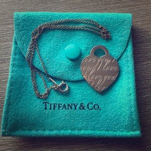 """Tiffany & Co """"l love you"""" charm necklace"""