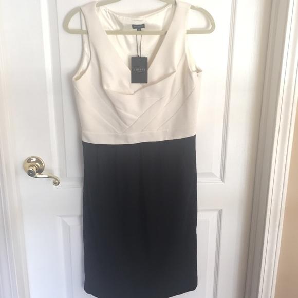 Hobbs BK and Wht Dress