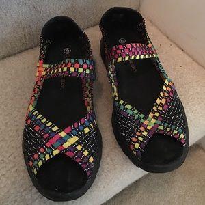 bernie mev. Shoes - Bernie Mev Woven Open Toe Shoes