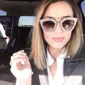 Cinema Style Sunglasses in White