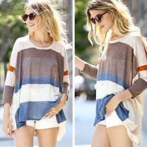 •striped pullover•