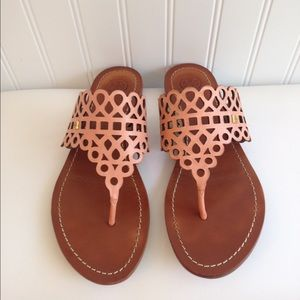 be7d047baba30b Tory Burch Shoes - Tory Burch Cantaloupe Davy Flat Thong Size 7.5.