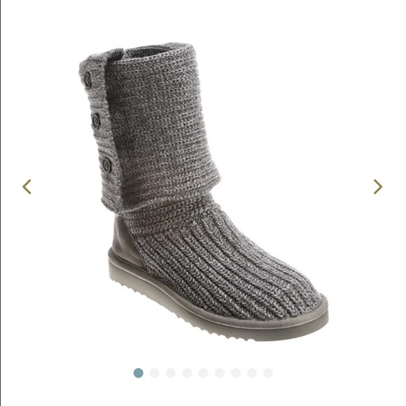 Ugg Shoes Gray Crochet Boots From Australia Poshmark