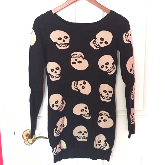 13915b92e7 Betsey Johnson skull sweater dress