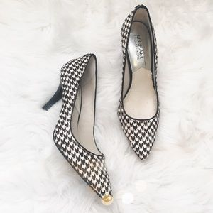 MICHAEL Michael Kors Shoes - Michael Kors Houndstooth Calf Hair Heels