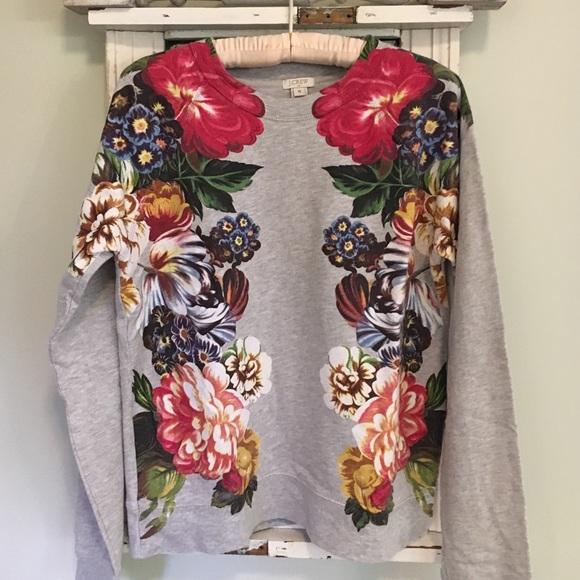 6de2bae3bc5 J. Crew Factory Tops - J. Crew Factory Floral Sweatshirt