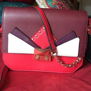 Red- Zara-Crossbody bag-