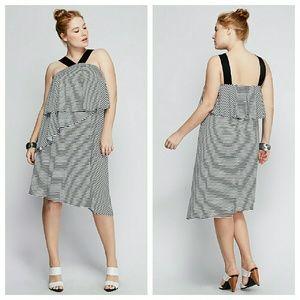 Lane Bryant Dresses & Skirts - Lane bryant striped dress black white 1x 2x 4x