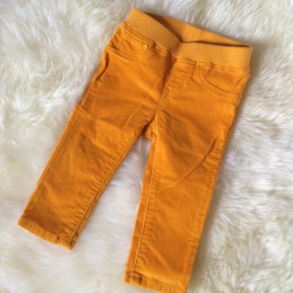 80% off GAP Other - 🎉HP🎉Gap mustard yellow corduroy pants 12-18 ...