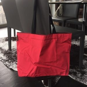 Herve Chapelier Red & Chocolate Brown Tote