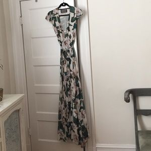 Reformation Colada Print Wrap Dress Size Small