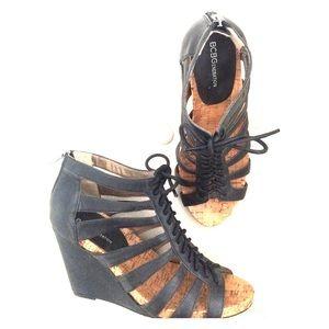 70 bcbgeneration shoes bcbg black wedge sandals