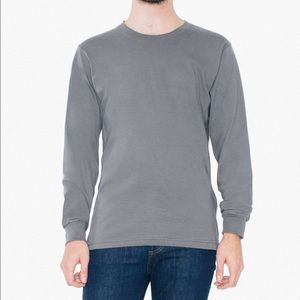 American Apparel Unisex Crew Neck Long Sleeve