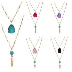Jewelry - Double Layer Necklace- 3 Colors left