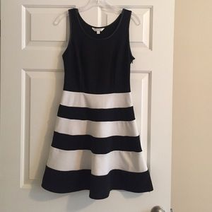 Charming Charlie Dresses & Skirts - Black and white striped cocktail dress