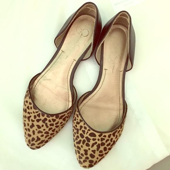 jessica simpson leopard flats