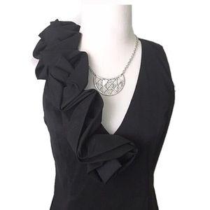S.L Fashions Dresses & Skirts - S.L Fashions black ruffle dress
