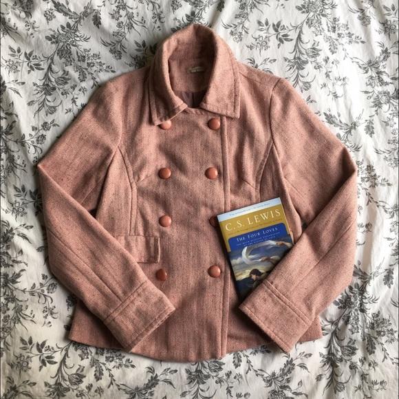 Sashimi - Sashimi Pink Military Coat from Rachel's closet on Poshmark