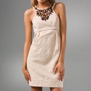 Shoshanna Dresses & Skirts - Shoshanna wooden beaded cut away canvas dress!