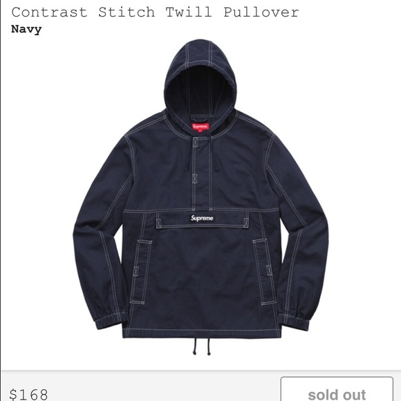Supreme - Supreme Contrast Stitch Twill Pullover Size Large from ...