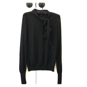 Zara tie-neck knit sweater