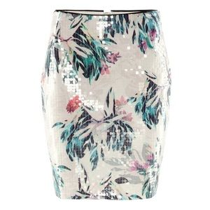 H&M Sequin Floral Skirt