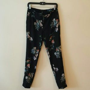 Floral MANGO ankle trousers