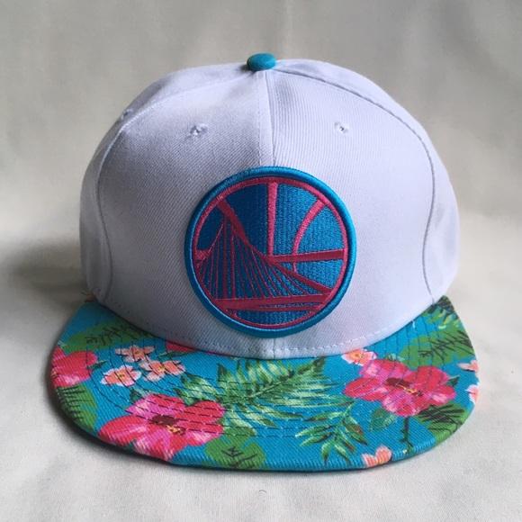 c4b217c4cc3 Golden State Warriors  Floral  snapback hat