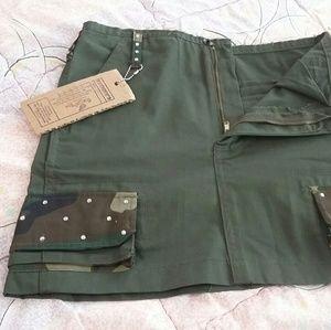 Camo Dresses & Skirts - Camo Fatigue and Bling Mini Skirt