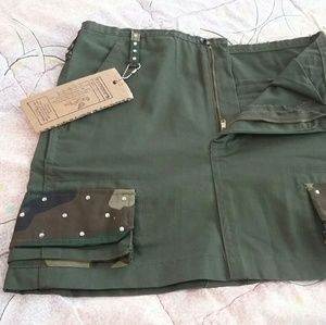 Camo Dresses & Skirts - 🌟SALE🌟 Camo Fatigue and Bling Mini Skirt