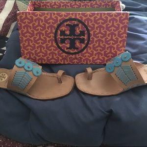 6b9083fe10d0c7 Tory Burch Shoes - Tory Burch Caylan Toe Ring Sandal