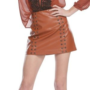 Line & Dot Dresses & Skirts - PRICE DROP Line & Dot  faux leather skirt NWT