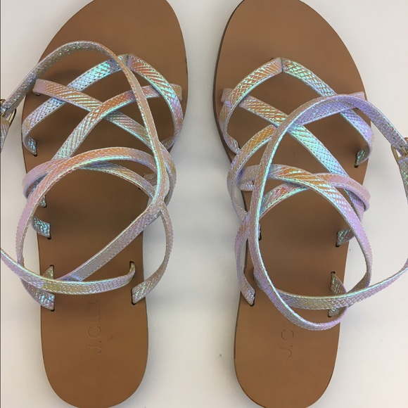 b5bf5e5241a7 J. Crew Shoes - J. Crew Clara Iridescent sandals