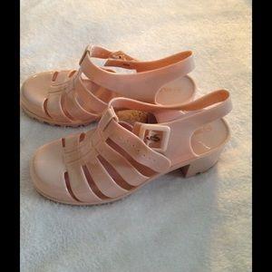 Wild Diva Jelly Sandals with Heel 7