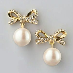 Kate spade pearl drop earrings