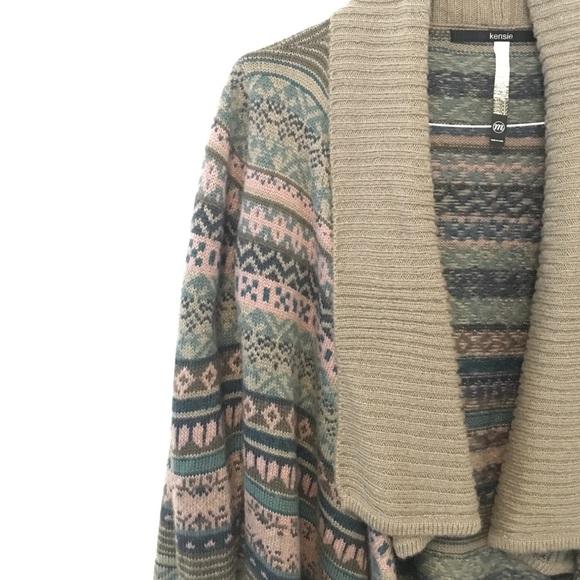 78% off Kensie Sweaters - KENSIE Fair Isle Nomad Blanket Sweater ...