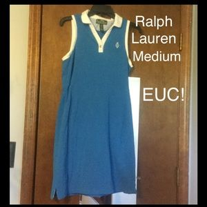 EUC! Ralph Lauren blue polo dress Medium