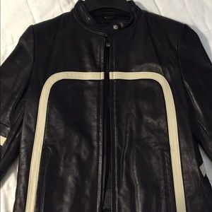 Wilsons Leather Motorcycle Style Jacket Women's S