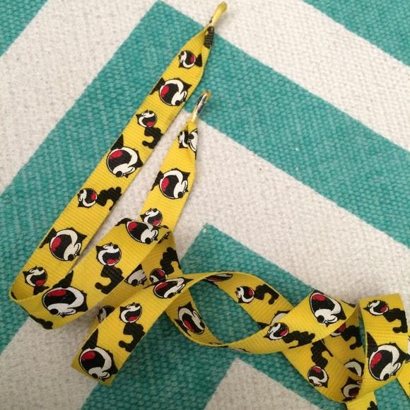 Yellow Felix The Cat Shoelaces | Poshmark