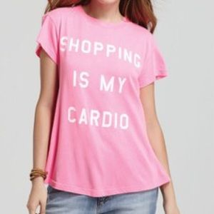 Wildfox Shopping Is My Cardio t-shirt. Size XS.
