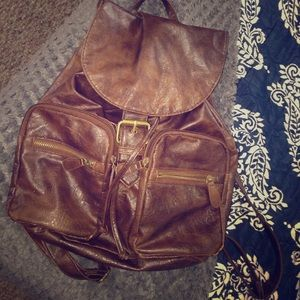 Claire's Handbags - Leather backpack