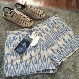 Joie Pants - Joie Merci Print Chambray Shorts