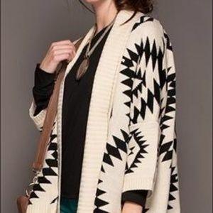 Sheinside Sweaters - Aztec print cardigan