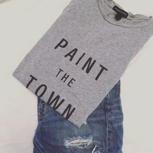 Grey Paint The Town Tee