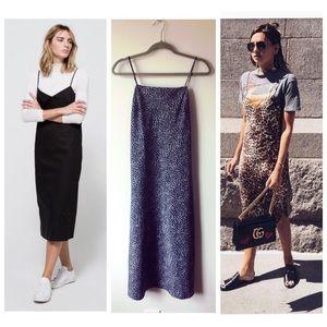 Zara Dresses & Skirts - Vintage '90s Minimalist Leopard Slip Dress