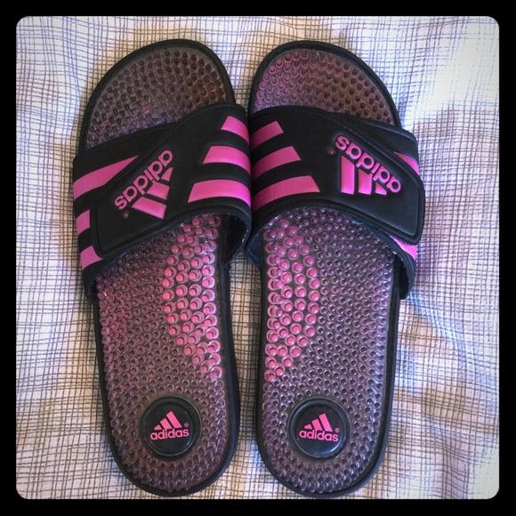 21526706e86b adidas Shoes - Adidas Adissage slides sandals pink black 7M 9W