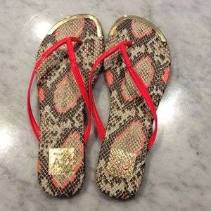 Dolce vita snakeskin patterned sandals