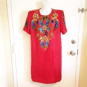 Vintage Fully Beaded Dress
