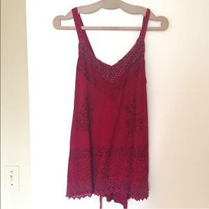 Advance Apparels  Tops - Red Boho Top