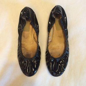 Lanvin Shoes - Lanvin Black Patent Leather Ballet Flats